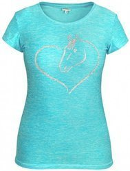 Funktions-T-shirt HE Horse in my heart, violett XS